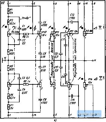 схемы блока переключателей