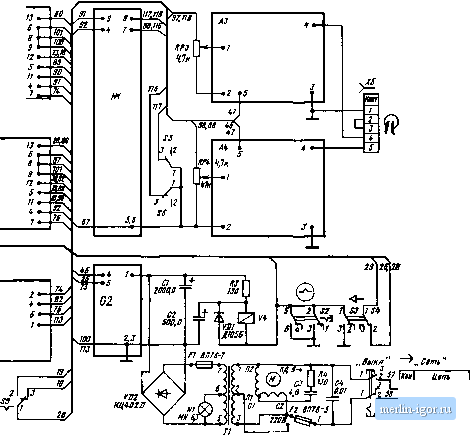 схема матнтофона-приставки