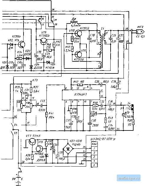 схема магнитофона Легенда-