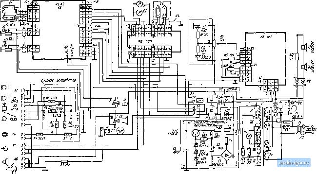 схема магнитофона Маяк-205
